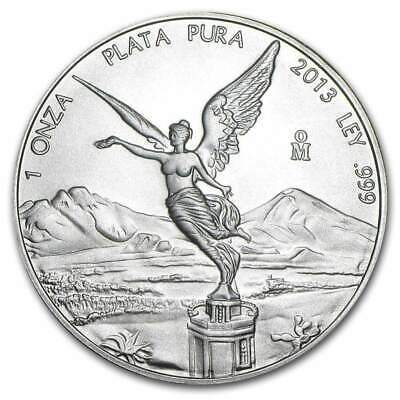 2013 Mexico Fine 1 OZ .999 Silver BU Libertad Bullion Coin NEW FROM SEALED ROLL