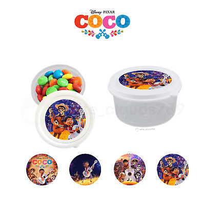 10 Disney Coco Movie Kids Party Favor Plastic Candy Cups Containers Treat Box
