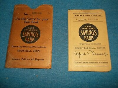 Deposit/pass Book And Pouch East Tennessee Saving Bank,knoxville,tn. Dated 1930