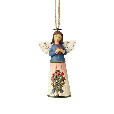 Jim Shore*FOLKLORE ANGEL with HEART ORNAMENT*New 2018*NIB*Christmas 6001455