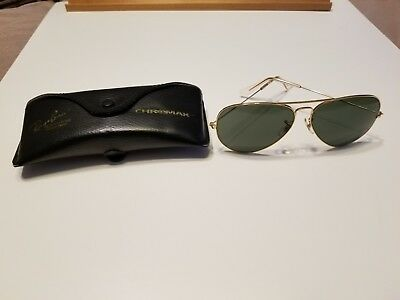 2b2023e516 Vintage 1960 s B L Ray Ban USA Gold 62 14 Chromax Sunglasses With Case