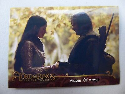 TOPPS Lord of the Rings: The Two Towers - Card #28 VISIONS OF ARWEN