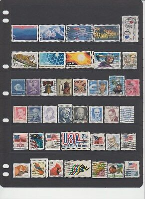 USA - 40 used stamps  ( Lot 114 )