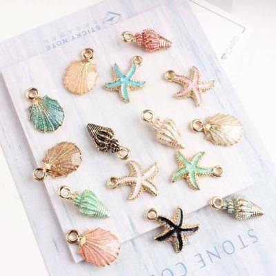 13Pcs Nice Conch Sea Shell Charms Ocean Pendants Handmade Accessories Craft Lots