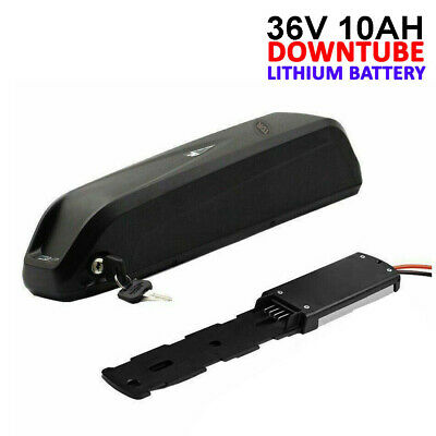 Black 36V 10AH Bottle Lithium Li-Ion Battery Pack for Electric Bicycle E-Bike