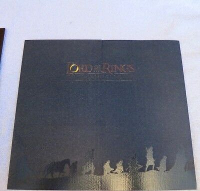 Lord Of The Rings Fellowship 2001 New Zealand Presentation Pack Stamps Weta