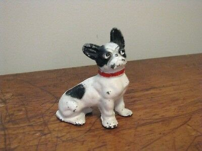 Antique Hubley Cast Iron French Bulldog  Paper Weight.