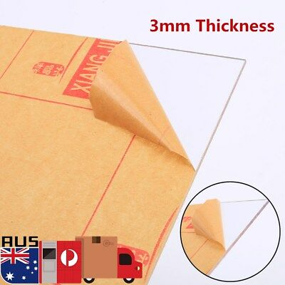 3mm Acrylic Thickness Clear Perspex Sheet Cut Plastic Board Perspex Panel AU