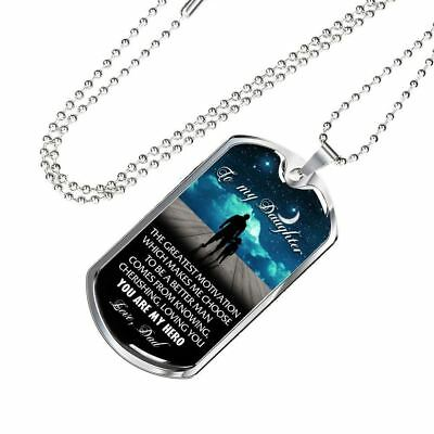 To My Daughter Dog Tag You Are My Hero, Love Dad - Best Gift For Daughter
