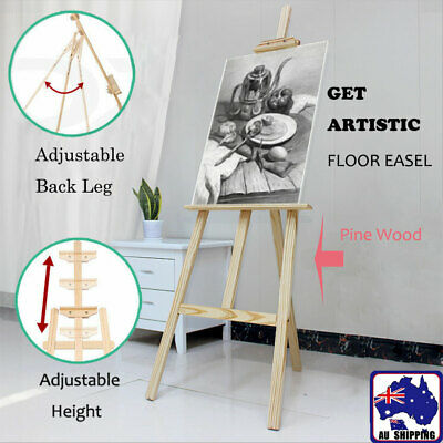 Pine Wood Easel Artist Art Display Painting Shop Tripod Stand Adjustable SMUK567