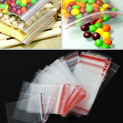 Durable 4x6cm Clear Ziplock Reclosable Bags Resealable Plastic Poly Small Bag