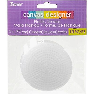 "Darice Plastic Canvas Shapes 7 Count 3"" 10/pkg-circles Clear"
