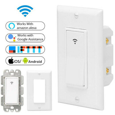 Wifi Smart Switch Voice Control For Amazon Echo Alexa Google Home Smart Home