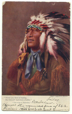 Tuck's The Song Of Hiawatha Indian c1905 Postcard