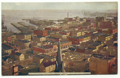 Duluth MN Shipping District Old Postcard - Minnesota