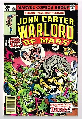 JOHN CARTER WARLORD of MARS #1 Gil Kane Dave Cockrum 1977 FN+