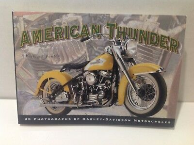 """American Thunder 30 Picture Postcards of Harley Davidson Motorcycles 7"""" x 4-1/2"""""""