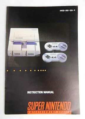SNES Super Nintendo Console MANUAL Instruction Manual ONLY