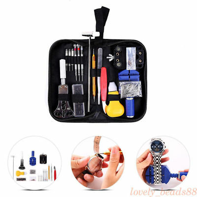 147PC/PACK Watch Repair Tool Watchmaker Back Case Opener Remover Watch ToLL KIT