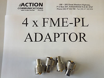 4x PL259 to FME M adapter Plug  UHF / AM CB for mobile antenna and leads pl 259