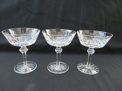 """Waterford Crystal SHANDON Cut Champagne Sherbet Glass 5"""" Tall Set of 3 Excellent"""