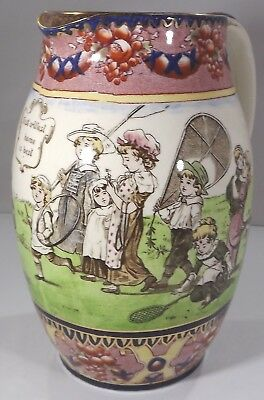 Antique Royal Doulton Large Series Ware Jug Featuring Edwardian Children