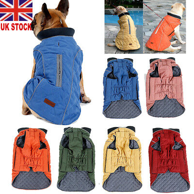 UK Waterproof Warm Winter Dog Coats Clothes Padded Vest Pet Jacket Small/ Large