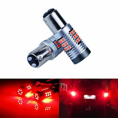 2x 380 P21/5W BAY15d Red 15W LED Tail Stop Brake Light Bulb Ford Focus Transit