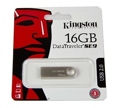 Pendrive USB-Stick Kingston DataTraveler SE9 16 GB Metall DTSE9H/16GB Flashdrive