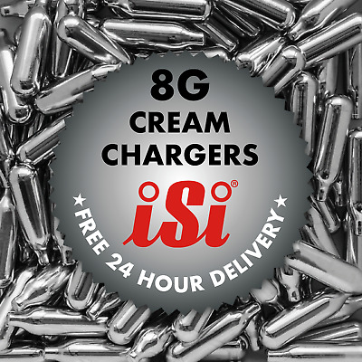 Isi Branded - 8g Whipped Cream Chargers NO2 NOS N2O Canisters - EU Made A++++