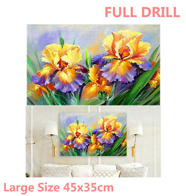 Full Drill Large Size Flowers 5D Diamond Painting Embroidery Cross Stitch Kit WZ