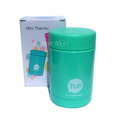 Tupperware NEW Mini Thermos Flask Therm Stainless Steel inside Aqua 250ml