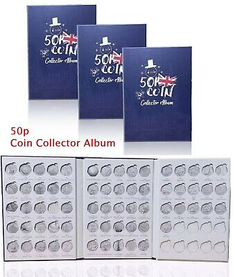 NEW 2019 50p coin Album with 38 slot for all 50p in circulation. Good Quality !!