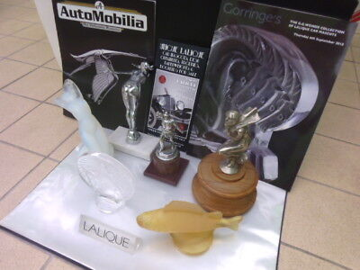 FAB' LALIQUE CAR MASCOTS, HOOD ORNAMENTS AUCTION SALE CATALOG along with new mag