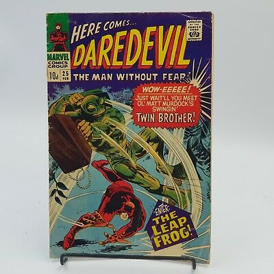 Daredevil #25 Silver Age Marvel Comics 1st Appearance of Leap-Frog VG