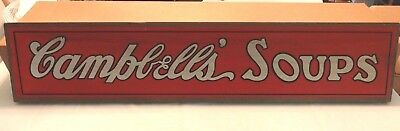Campbell's Soup Wood Wall Sign