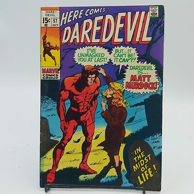 Daredevil #57 Silver Age Marvel Comics 2nd Appearance of Death's Head F/VF