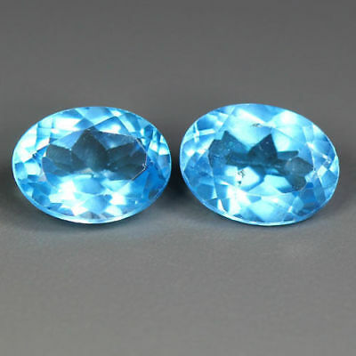 3.21 Cts_World Class Very Rare Gemstone~Matching Pair~100 % Natural Blue Topaz