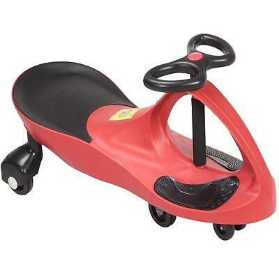 Red Swing Car Ride On Swivel Scooter Childrens Toy Wiggle Gyro Twist & Go Gift
