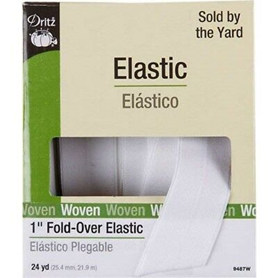 "Dritz Woven Fold-over Elastic 1""x24yd-white"