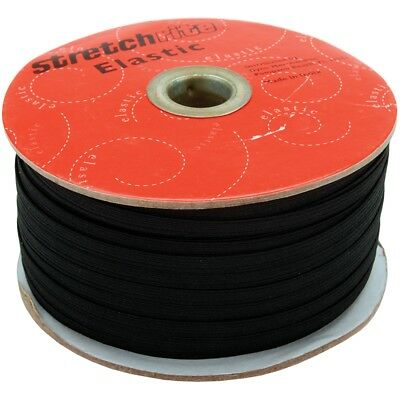 "Singer Stretchrite Braided Elastic .25""x100yd-black"