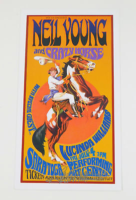 Bob Masse Signed 4 x 6 Mini Color Poster Neil Young and Crazy Horse Auto