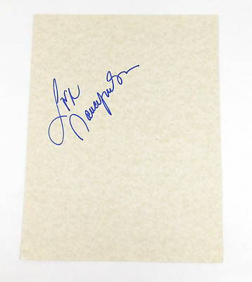 Nancy Wilson Signed 8 x 10 Blank Card Ideal For Framing Auto