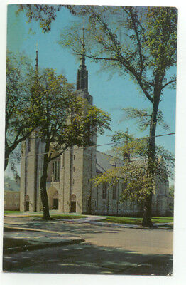 Ogdensburg NY St. mary's Cathedral & Rectory Postcard - New York