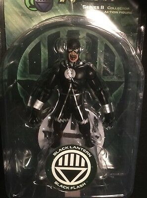 "Black Lantern FLASH 6"" action figure DC DIRECT UNIVERSE BLACKEST NIGHT SERIES 8"