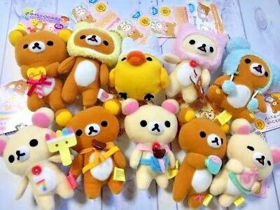 Rilakkuma 10 Plush Doll Strap set LOT Japan 100% Original Product Kawaii [Set21]