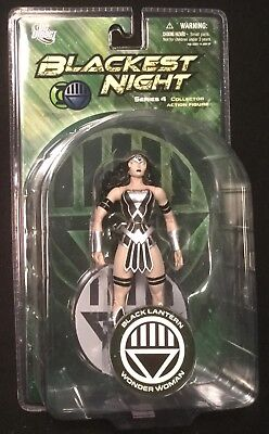 "Black Lantern WONDER WOMAN 6"" action figure DC DIRECT BLACKEST NIGHT SERIES 4"