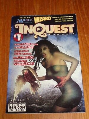 Inquest #1 May 1995 Wizard Future Of Gaming Us Magazine =