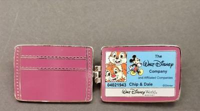 Disney WDW - Cast Exclusive Chip and & Dale ID Wallet LE Hinged Free-D Pin