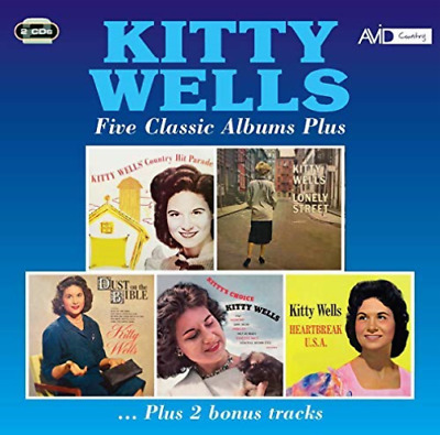 Kitty Wells-Five Classic Albums Plus (UK IMPORT) CD NEW
